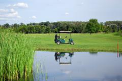 golf electric buggy.JPG - stock photo