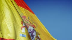 Spain flag Stock Footage