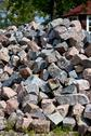 Stock Photo of the heap of granite stones