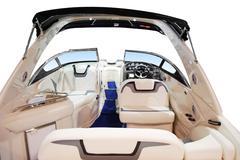 Luxury fast boat interior.jpg Stock Photos