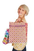 woman with shopping bags.JPG - stock photo