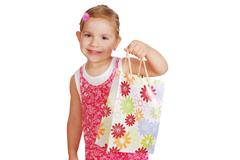 little girl hold shopping bag.JPG - stock photo