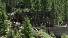 Old mine building Stock Footage