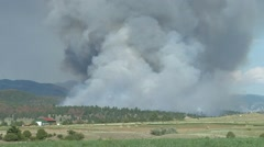 Wildfire near Helena Stock Footage