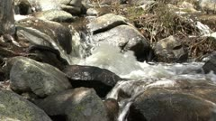 Mountain stream, close-up Stock Footage