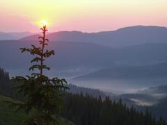 sanrize mountain landscape 1 - stock photo