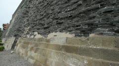 Ancient city Great Wall texture.Weathering of masonry. Stock Footage