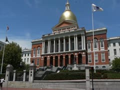 Massachusetts State House - stock footage