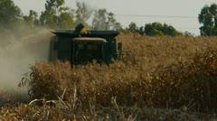 Corn harvest 2 Stock Footage