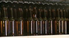 Berwery Bottles Stock Footage