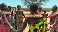 Stock Video Footage of A group of African women dance in circle