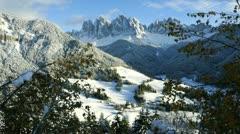 Santa Magdalena, Dolomites, Italy, T/L Stock Footage