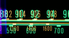 Glowing radio dial Stock Footage