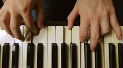 Male piano player hands Stock Footage