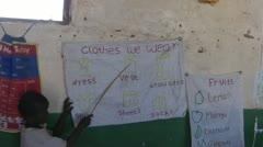 School for children in Africa Stock Footage