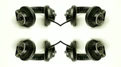 Vintage headphones sequence Stock Footage