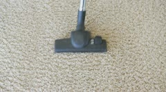 Hoovering the carpet Stock Footage