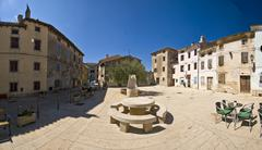 Stone table on Galizana square - stock photo