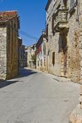 Stony Galizana street - stock photo