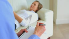 Therapist with patient Stock Footage