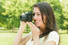 Stock Photo of happiness girl outdoor