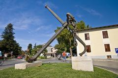 Anchor in Novigrad park - stock photo