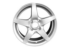 Silver aluminum wheel rim isolated.jpg Stock Photos