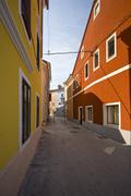 Vivid street in Novigrad Stock Photos