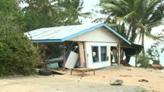 Hurricane Storm Surge Damage To Building - stock footage
