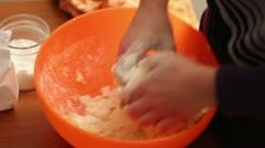 Tart nuts pie preparation Stock Footage