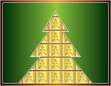 Stock Illustration of golden christmas tree