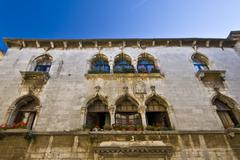 The Gothic Palace in Porec Stock Photos
