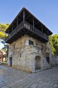 The Romanesque house in Porec Stock Photos