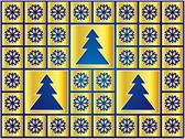 Stock Illustration of christmas icons golden snowflakes and trees