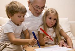 Grandpa teacher Stock Photos