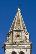 St.Martin`s church tower in Tar - stock photo