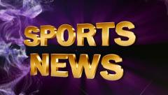 Sports news text blue ok 2 Stock Footage