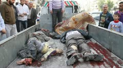 Dead Bodies Syria Stock Footage