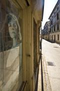 Old Merchant`s street in Vodnjan - stock photo