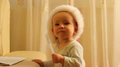 Suloinen vauva makuista kynä Arkistovideo