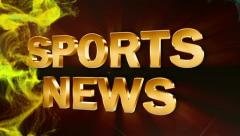 Sports news text red ok 2 Stock Footage
