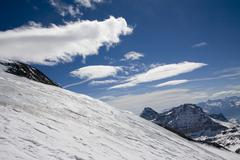 Stock Photo of European Alps glacier
