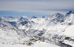 Cervinia valley, Italy - stock photo