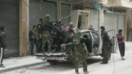 Free Syrian Army Fighter Yell Stock Footage