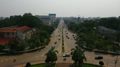 Laos: Traffic in Vientiane. Stock Footage