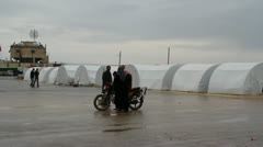 Syrian Refugee Camp Stock Footage