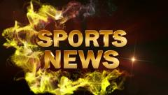 Sports news text red ok 1 Stock Footage