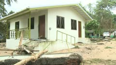 Hurricane Storm Surge Damage To Building Stock Footage