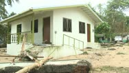 Stock Video Footage of Hurricane Storm Surge Damage To Building
