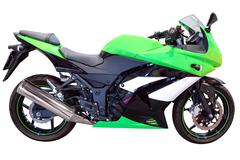 fast green motorcycle isolated .jpg - stock photo
